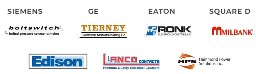 Siemens GE Eaton Square D boltswitch Tierney Ronk Milbank Edison Lanco Hammond Power Solutions